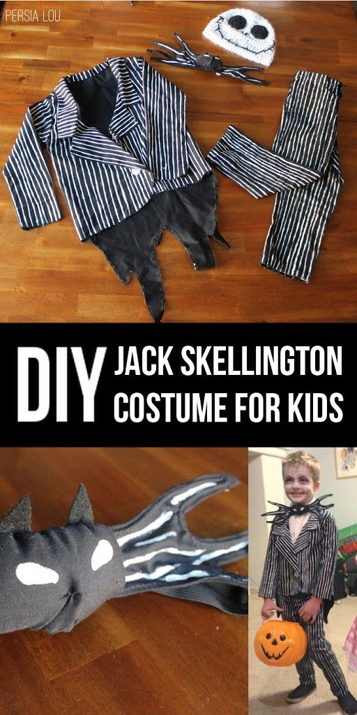I was so excited last year when my son asked to be Jack Skellington for Halloween. I knew it would be a fun challenge to create a costume for him, and I had such a good time doing it. Here he is in version one of the costume: So not the happiest looking kid there …