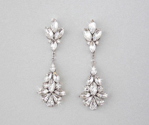 CAMILLE: Wedding Earrings - Swarovski Crystal Chandelier Earrings — Ambrosia Bridal