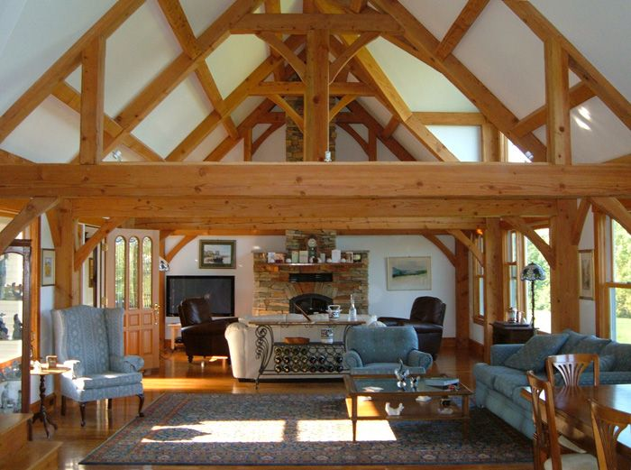 Simple nice and not umpteen thousand square ft http for Simple timber frame homes