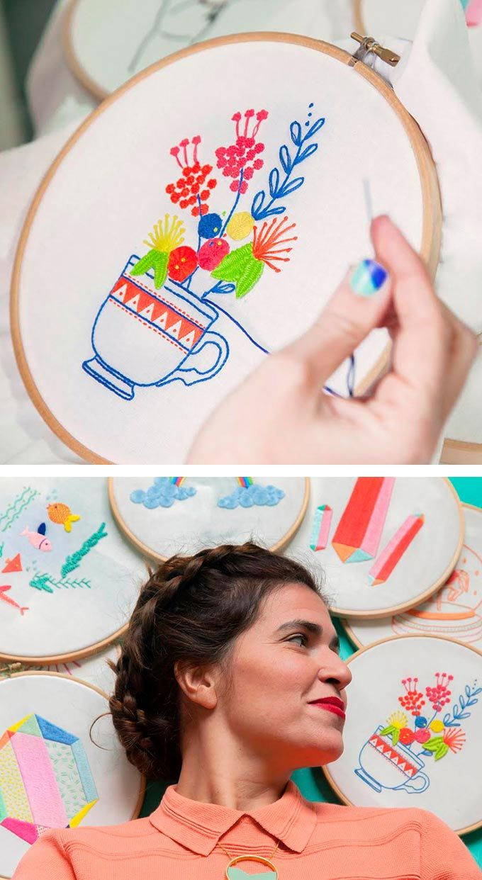 Srta Lylo DIY embroidery collection: 10 free patterns for you to try!