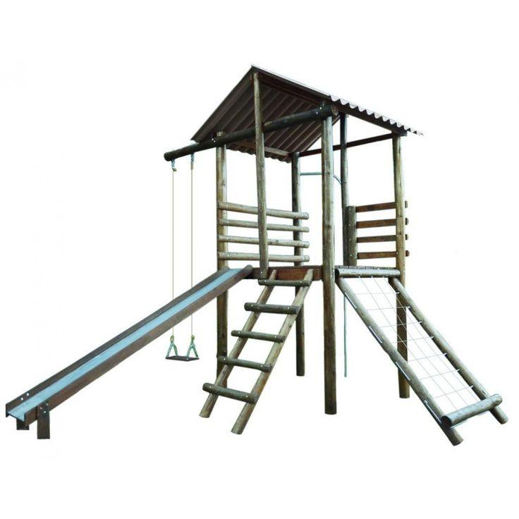 Editar descrição Casinha do Tarzan - Playground - Madeira Eucalipto - Mod. Júnior 1 - Cód. 0413.5 - Linha de Madeira e Ferro - Playgrounds - Esportes Express