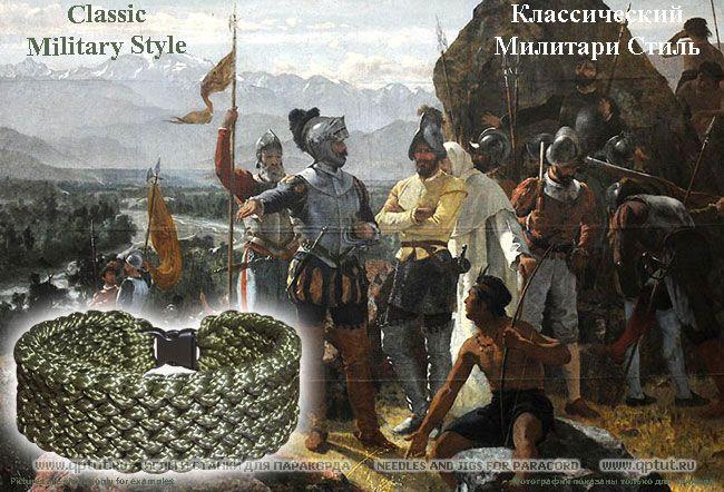 """Брутальный браслет """"Конкистадор"""" для настоящего мужчины! - сделан из Британского армейского паракорда (цвет - олива) - плотное плетение! Brutal bracelet """"Conquistador"""" for a real man! from British Army Paracord (color - olive) - tight weave!"""