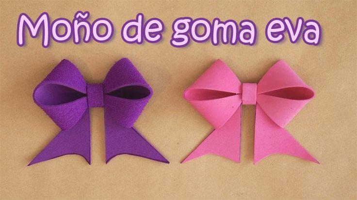 Si te gusta envolver tus regalos con personalidad, ¡Aprende a hacer estos bonitos lazos de goma eva!