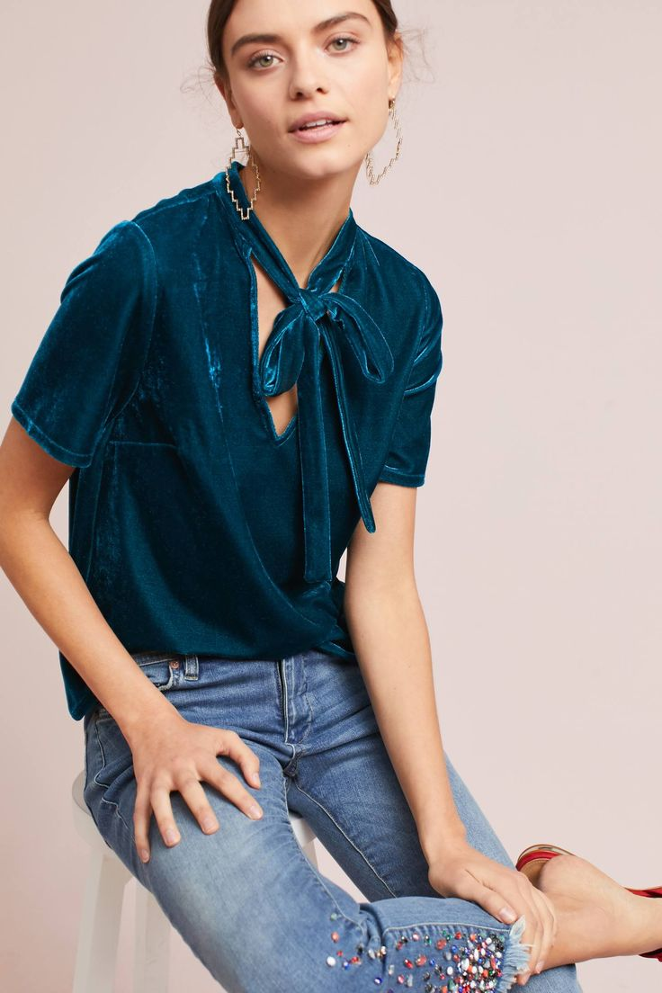 Shop the Velvet Tie-Neck Top and more Anthropologie at Anthropologie today. Read customer reviews, discover product details and more.