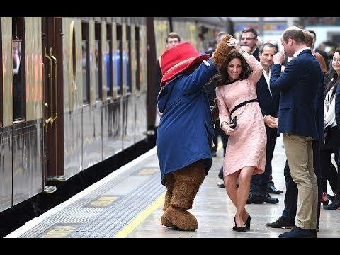 The Duchess of Cambridge enjoys a dance with Paddington Bear