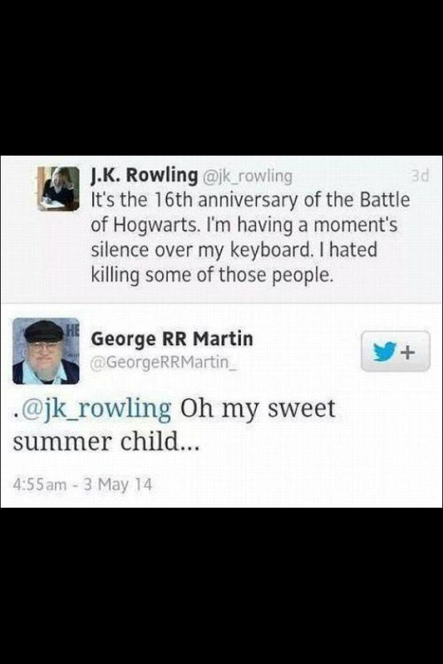 George RR Martin On JK Rowling