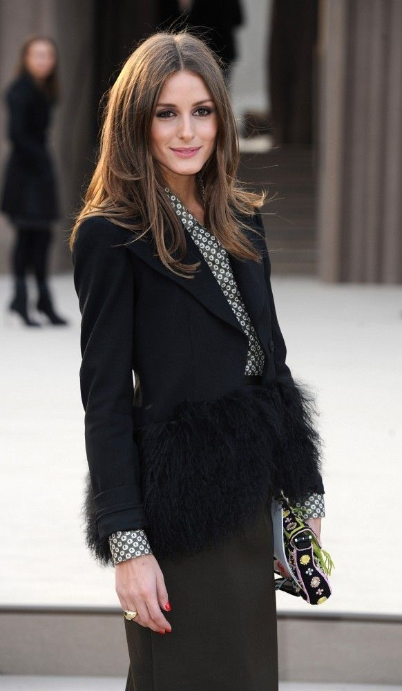 THE OLIVIA PALERMO LOOKBOOK: LFW 2013: Olivia Palermo at Burberry Prorsum