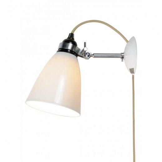 Original BTC Hector Medium Dome Wall Light W/ Plug Switch Cable