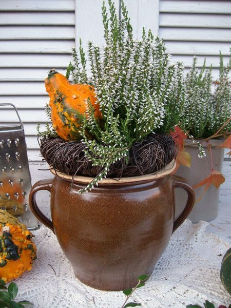 Vintage Töpfe – Schmalztopf Vase Übertopf Steingut Topf alt shabby – ein Desig…