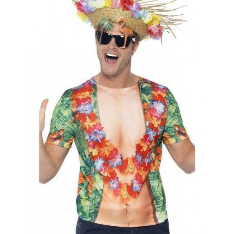 Camiseta Hawaiana para Hombre #Disfraz #Despedidas #Hawaianos