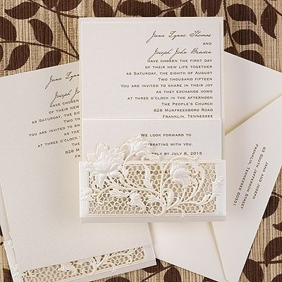 Exquisite Floral Window   Invitation Weddingneeds.carlsoncraft.com