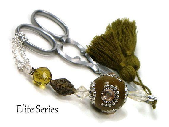 Scissor Fob Elite Series Olive Green Scissor Keeper by TJBdesigns
