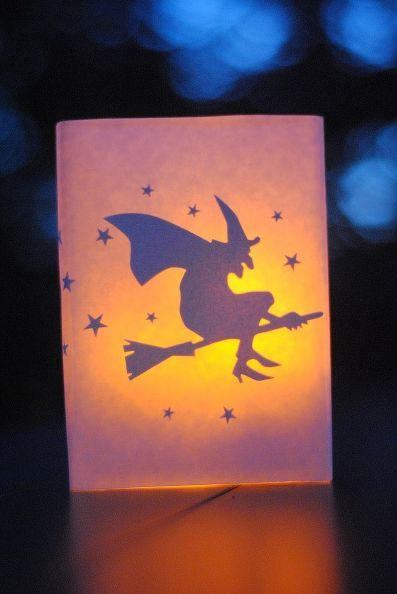 diy halloween decor glowing luminaries, crafts, halloween decorations, seasonal holiday d cor, The materials are inexpensive and you may even have some of them on hand