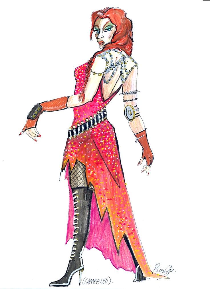 """Diseño de vestuario para """"Noche de bufones"""" para la compañía Reymala por Margarita Ruesga"""