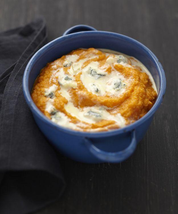 Purée de carotte au Bresse Bleu