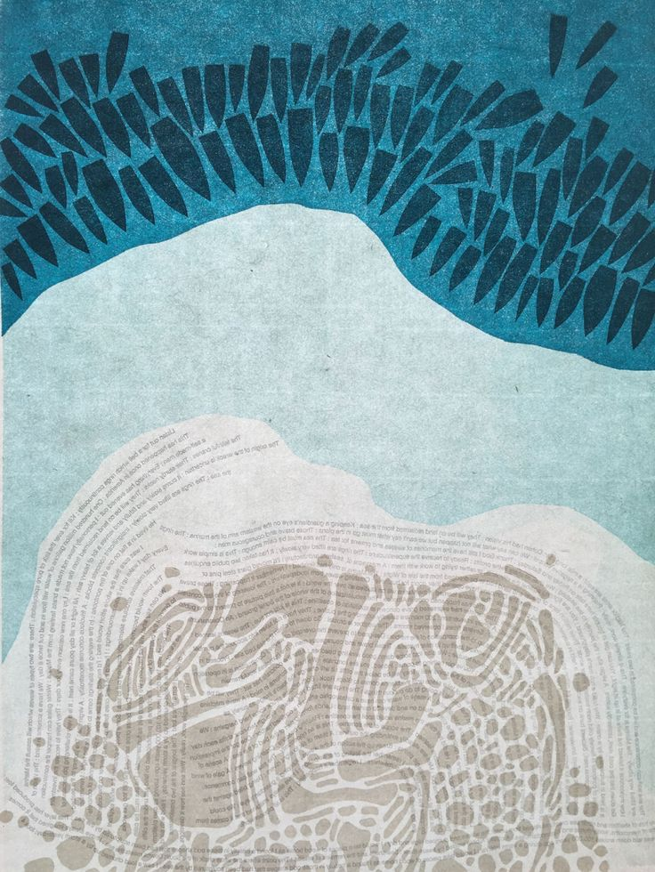 Print of the Brighton Marina by Sarah Bryant. Fascinating process and love the abstracted nature.