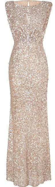JENNY PACKHAM Soft gold sleeveless sequin dress www.finditforweddings.com