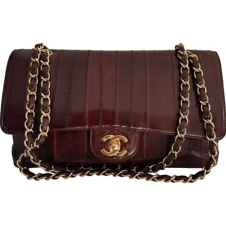 Chanel Vintage Timeless Classique Brown Eel Handbag Vintage Chanel Bag Vintage Chanel Handbag