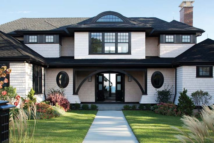 Uncommonly beautiful on pinterest discover the best trending exterior house colors ideas and - Black house with white trim ...