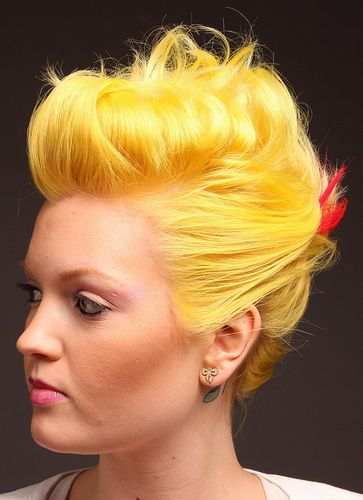I think this might be a super cool and different hair color. No one I know is walking into salons trying to get their hair legit yellow. Except me...