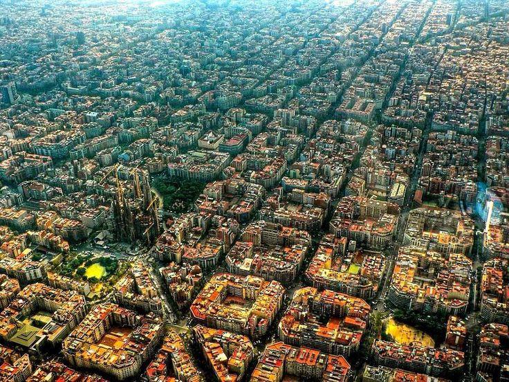 Barcelona downtown grid
