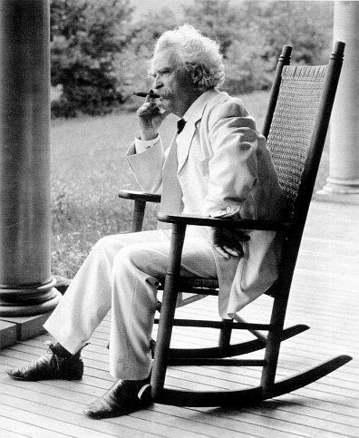 """""""I smoke in moderation, only one cigar at a time."""" - Mark Twain"""