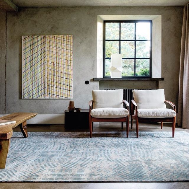 New from Limited Edition at @depoorterefinecarpetsrugs is the Swing Range. The Swing Rug range is a unique composition of polyamide, wool and tencel. Available as a custom area rug and wall to wall. Pictured here in Blue Stone. #designerrugs #limitededition #woolrugs #rugs #bluerugs #depoortere
