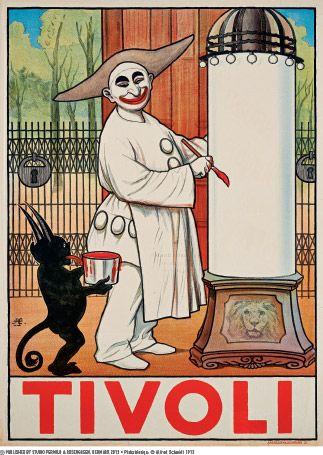 Danish artist Alfred Schmidt (1858-1938) created this subtle Tivoli Poster, 1913