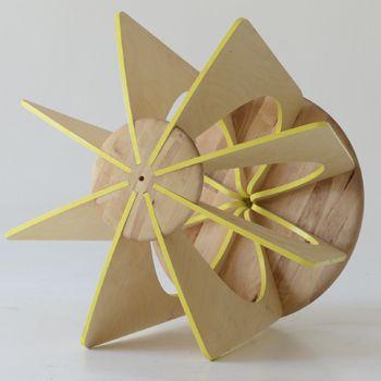 """Loading... """"NINA-Canary Yellow"""" active stool with yellow edges, by melinda molnaar"""