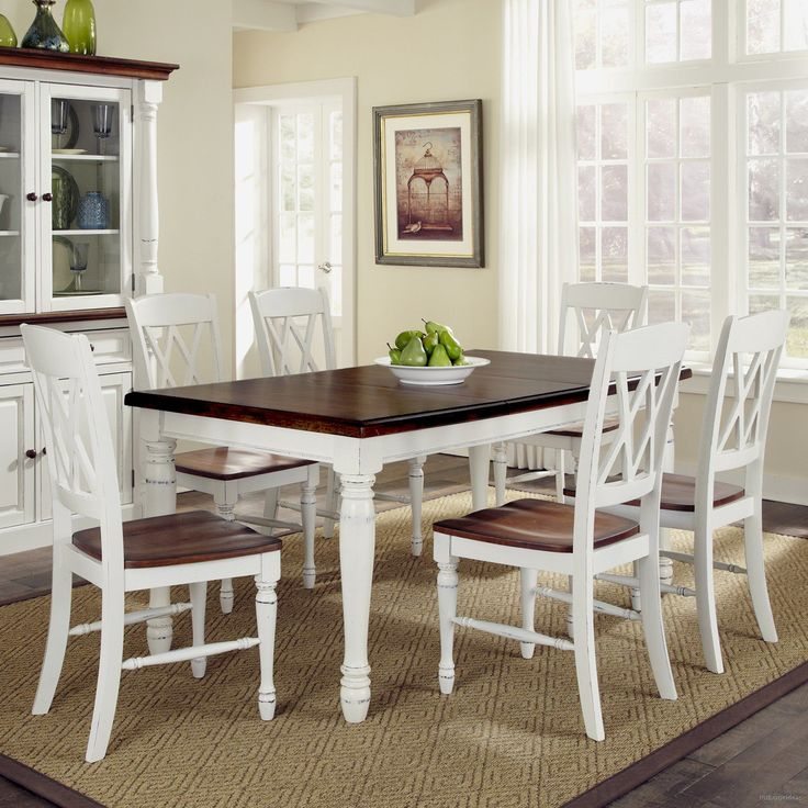 Elegant White Dining Room Table Set