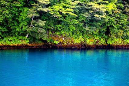 TOWADA-Lake in Japan. The fantastic blue on the pic is said that only summer allow you all to see this blue.