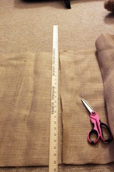 How to Make No-Sew Burlap Curtains  I will be doing this for the bedroom.  No bling, just good ole burlap..well maybe a tie back!