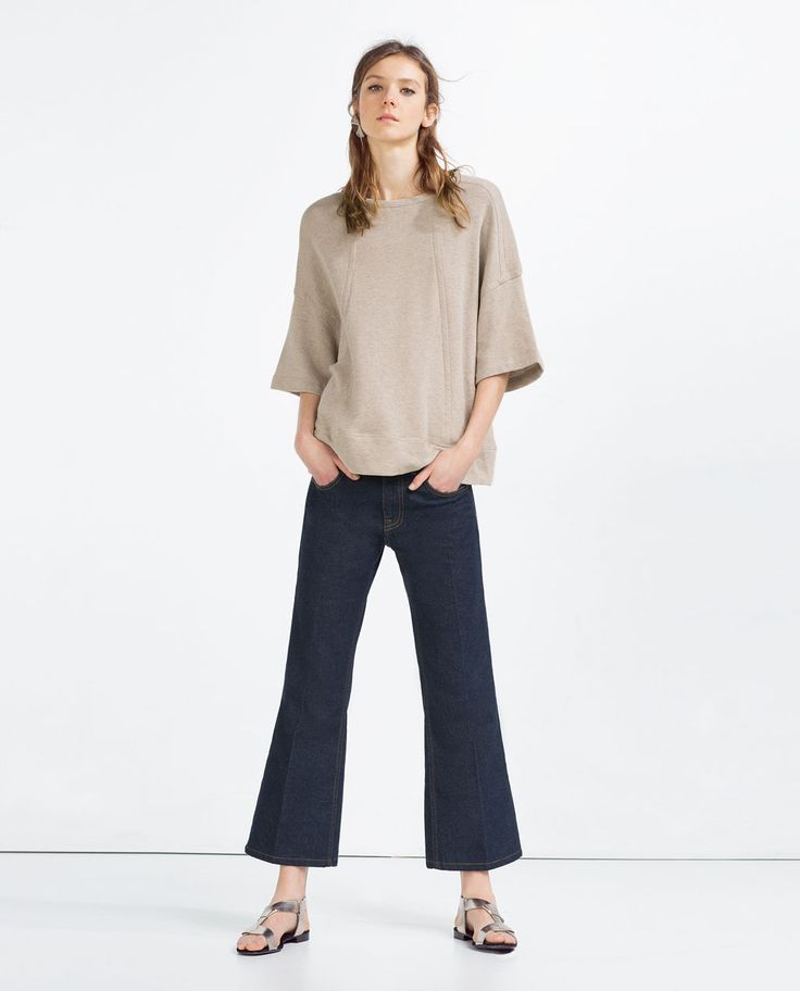 Image 1 of SEAMED SWEATSHIRT from Zara