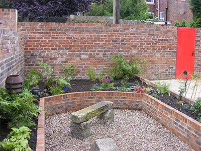 The Ends Of The Brick Built Raised Beds Joining To A Wider 400 x 300