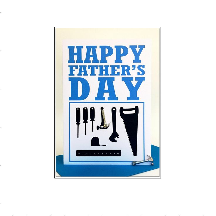 A personal favourite from my Etsy shop https://www.etsy.com/au/listing/280452092/happy-fathers-day-greeting-card-silver