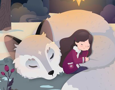"""Check out new work on my @Behance portfolio: """"Winter Fairytale - The Sleeping Fox"""" http://be.net/gallery/44087601/Winter-Fairytale-The-Sleeping-Fox"""