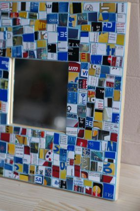How to Make a Mosaic with Your Old Plastic - CraftStylish - Now I have to find the old plastic to do this project.