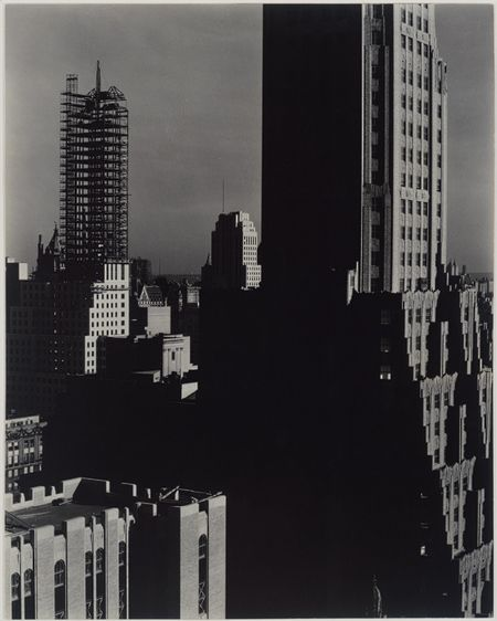 Looking Northwest from the Shelton, 1932  Alfred Stieglitz (American, 1864–1946)  Gelatin silver print  9 1/2 x 7 9/16 in. (24.2 x 19.2 cm)  Ford Motor Company Collection, Gift of Ford Motor Company and John C. Waddell, 1987 (1987.1100.11)