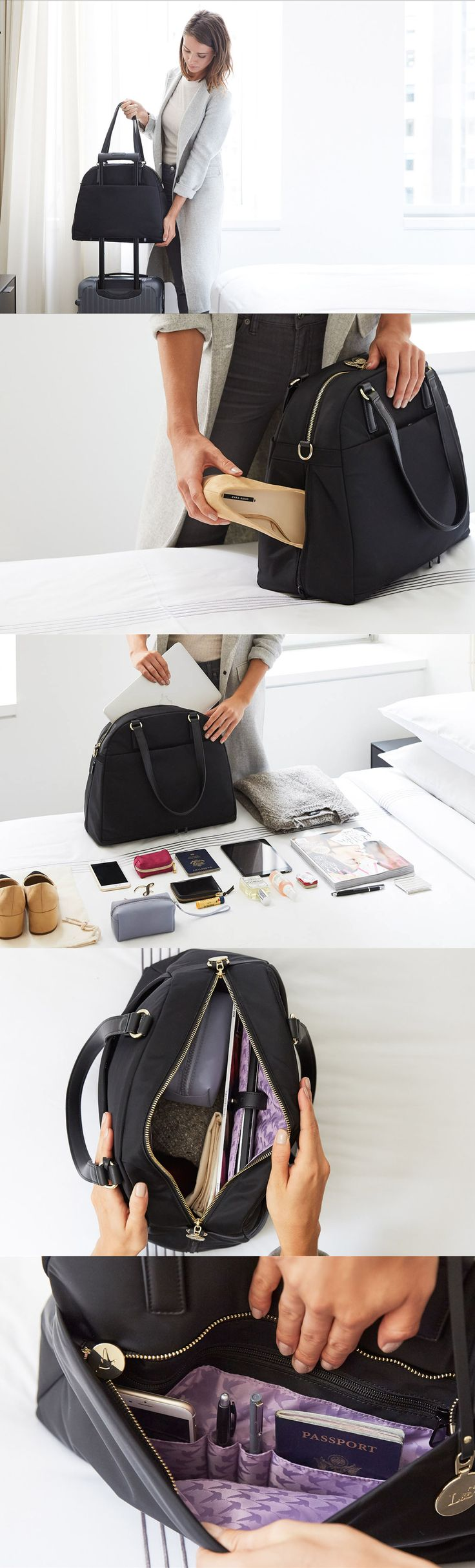 The O.G. is a high-quality lightweight travel bag that is designed for the demands of the on-the-go lifestyle. Thoughtfully designed with features to help you stay organized including a back panel suitcase sleeve, side shoe pocket, a built in laptop sleeve and tons of interior pockets. #loandsons