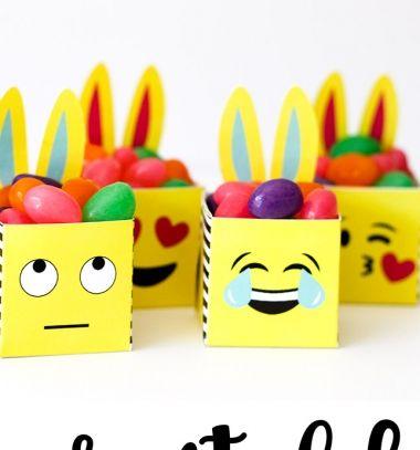 Free printable emoji Easter bunny boxes // Húsvéti emoji nyuszi dobozok - kreatív ajándék (sablonnal) // Mindy - craft tutorial collection