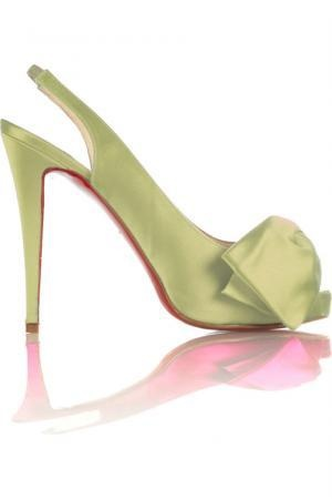 #Christian Louboutin Very Noeud Lightgreen Slingback