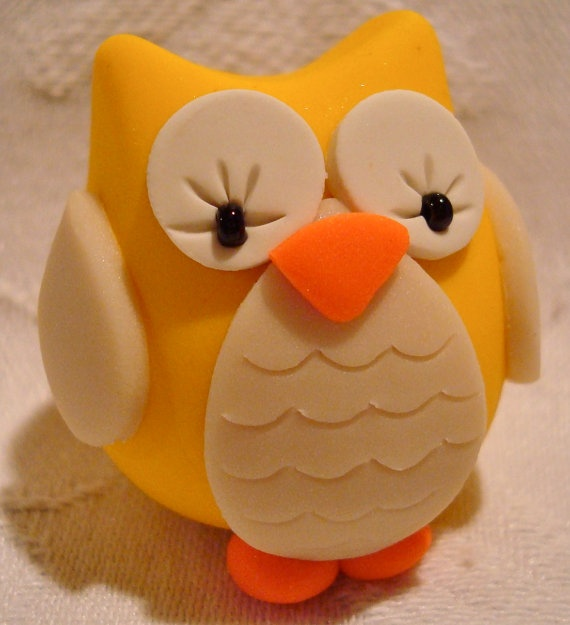 CHUBBY OWL  Polymer Clay Animal  Made to Order  You by KatersAcres, $6.50