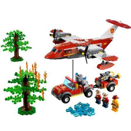 Lego City - 4209 - Jeu de Construction - L'Avion des Pompiers