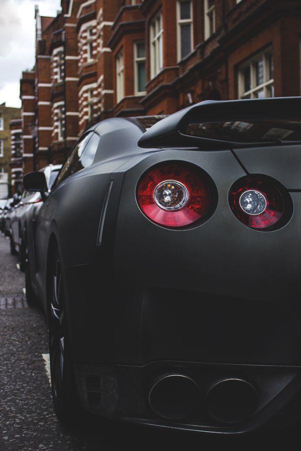 Matte black Nissan GT-R.