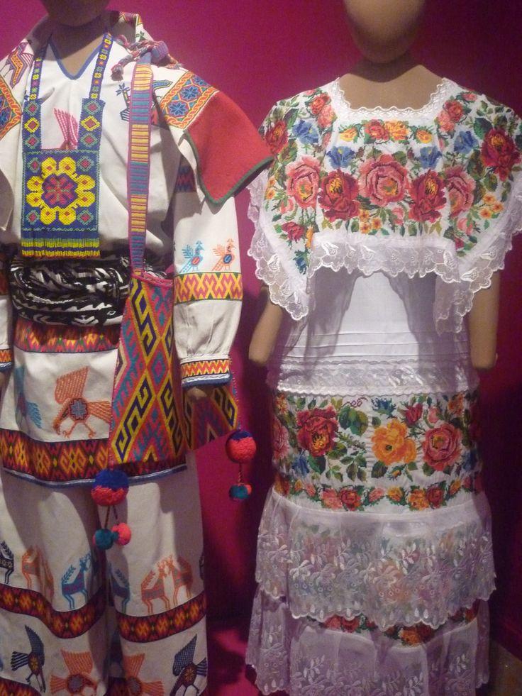 Pedro José Mendoza, traje de novio y novia elaborado en lino y bordado en punto cruz, Mexico.