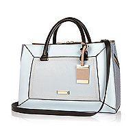 Blue structured hinged handbag - shopper / tote bags - bags / purses - women