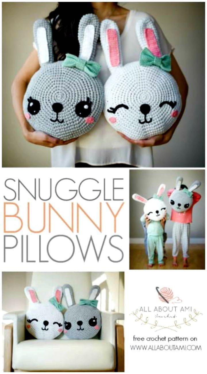 Crochet Snuggle Bunny Pillows – Free Amigurumi -  Crochet Amigurumi - 225 Free Crochet Amigurumi Patterns - DIY & Crafts