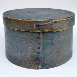 Sabbathday lake village Maine Shake pantry box /Circa 1850: Beautiful Blue, Blue Pantry, Blue Shaker, Oil Painting