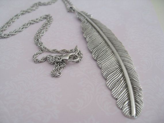 Fall Leave Antique Silver Pendant on 24 Silver Plated by maylui