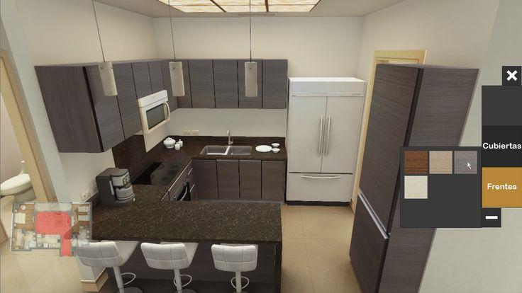 Simulación 3d interactivo Cocina Metropolitan Center